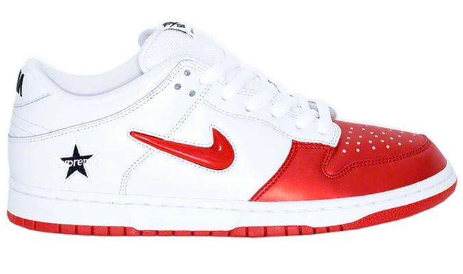 Nike SB Dunk Low Supreme Jewel Swoosh Rouge