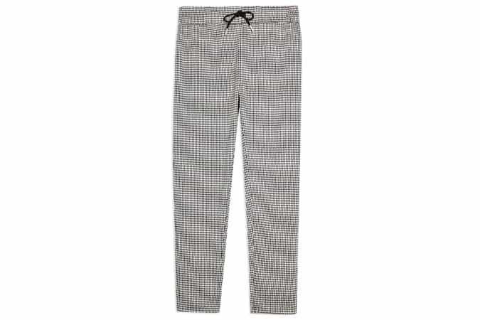 Pantalon de jogging en pied-de-poule noir et blanc