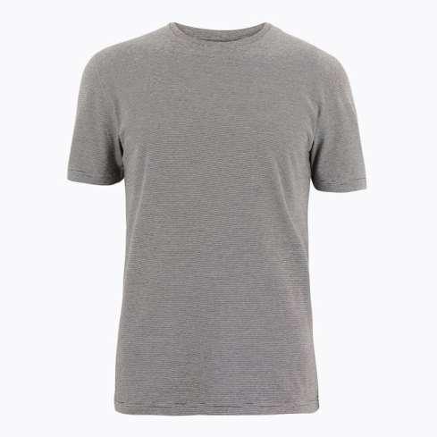 T-shirt rayé 100% coton M&S COLLECTION