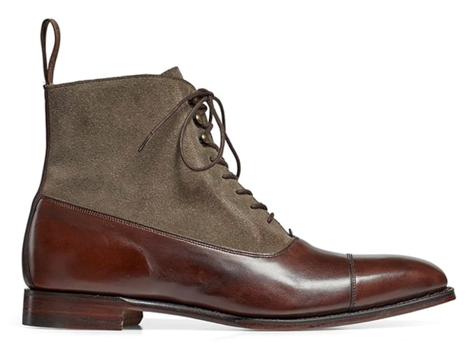 CHEANEY Brixworth Balmoral Boot in Burnished Mocha Calf/Tarn Suede