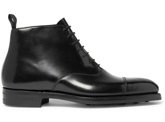 GEORGE CLEVERLEY William Bottes en cuir cordovan Shell Cap-Toe Horween Shell