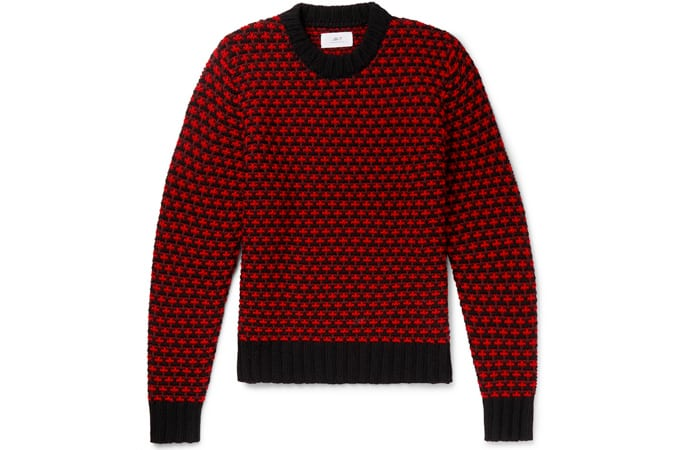 Pull en laine mérinos MR P. Intarsia