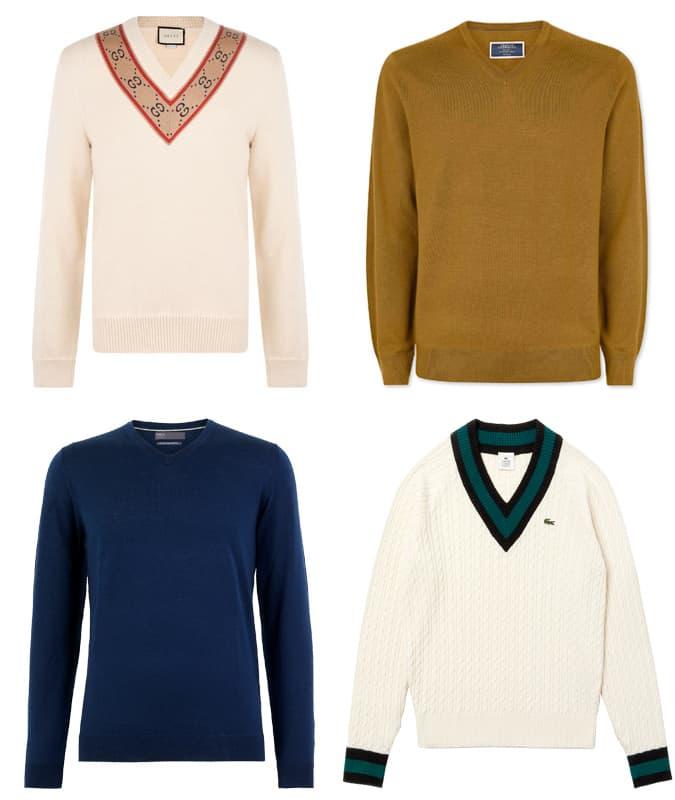 Best V-neck jumpers for men