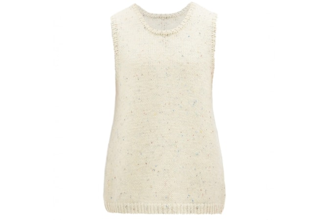 OUR LEGACY Melange wool sleeveless sweater