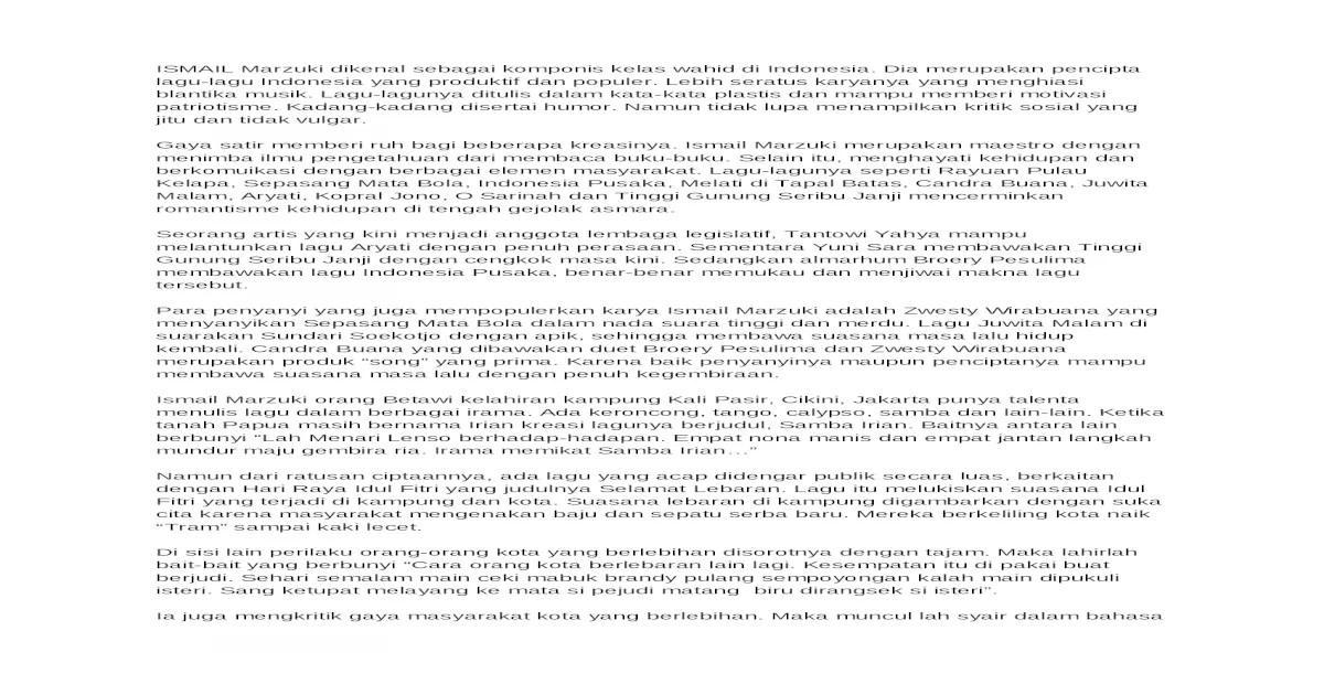 Ismail Marzuki Docx Document