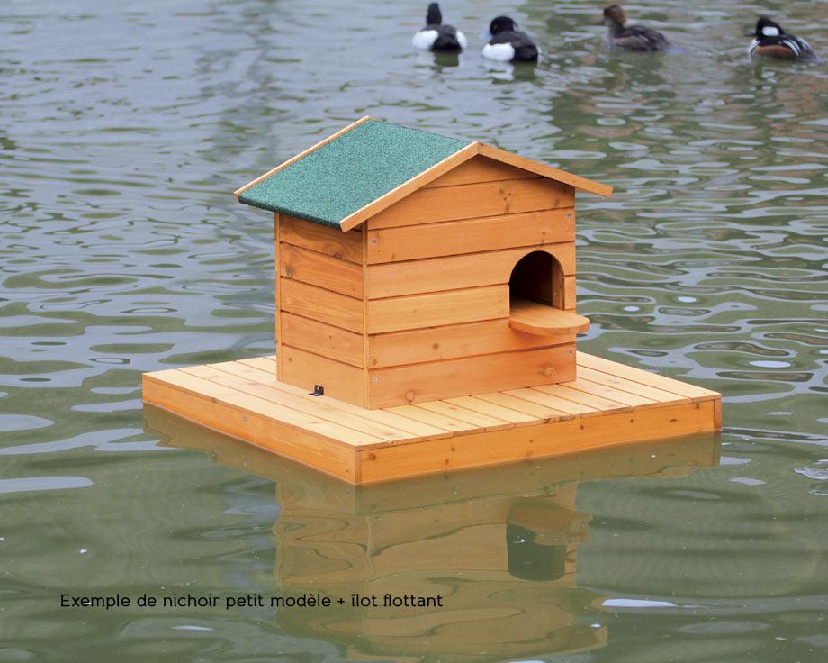nichoir et ilot flottant canard colvert