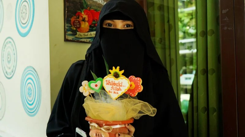 When referring to head coverings, the hijab is usually just a basic type of veil that covers the neck, ears, and often the chest, while the niqab also covers the face and has an opening for the eyes. Meet Indonesia S Niqab Squad The Face Covering Fan Club
