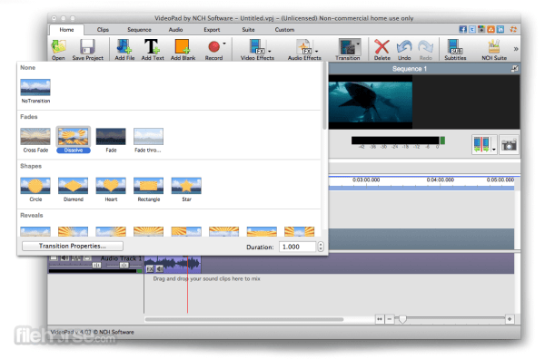 VideoPad Video Editor for Mac Download Free 2019 Latest