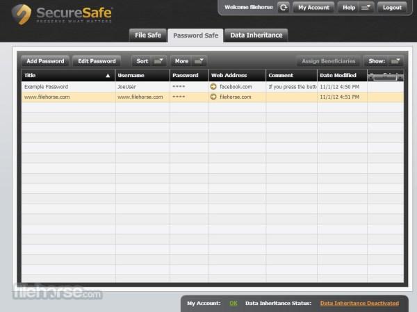 SecureSafe Online secure storage for your passwords