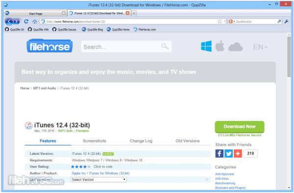 QupZilla Browser 225 Download for Windows FileHorsecom