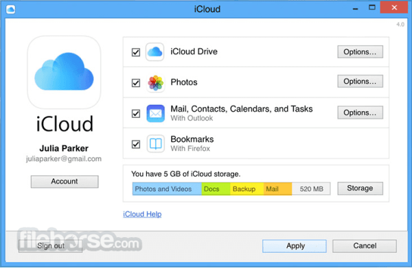 iCloud Control Panel 7.9.0.9 Download for Windows ...