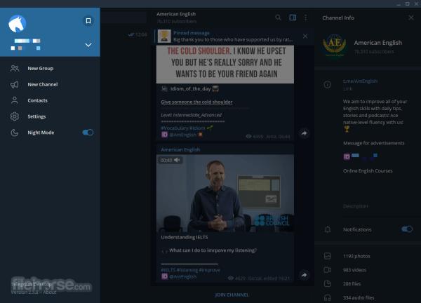 Telegram for Desktop 1110 Download for Windows