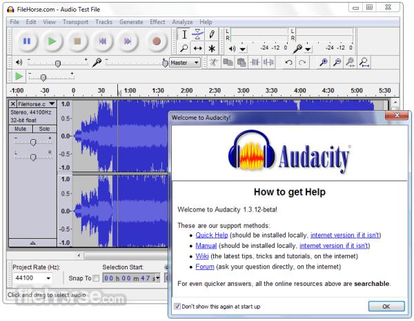 Audacity 222 Download for Windows FileHorsecom