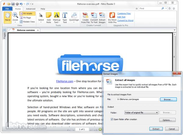 Nitro PDF Reader 5592 32bit Download for Windows