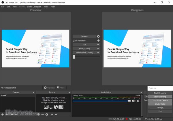 OBS Studio 2112 Download for Windows FileHorsecom