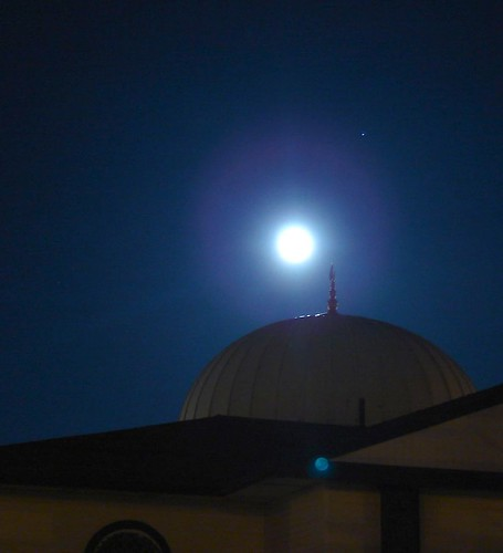 Mosque by moonlight
