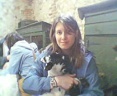 Stacy with a little lamb