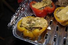 中秋豪華夜烤-普羅旺斯風甜椒鑲肉之起士融化了
