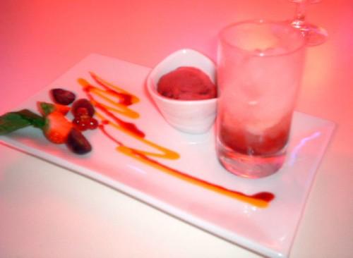 lychee sorbet