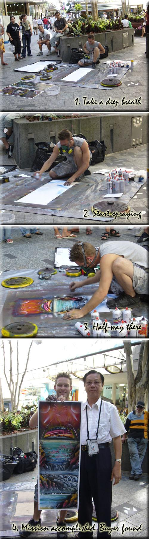 Spray Paintings