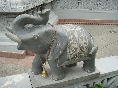 Front Wall Elephant - Sri Senpaga Vinayagar Temple
