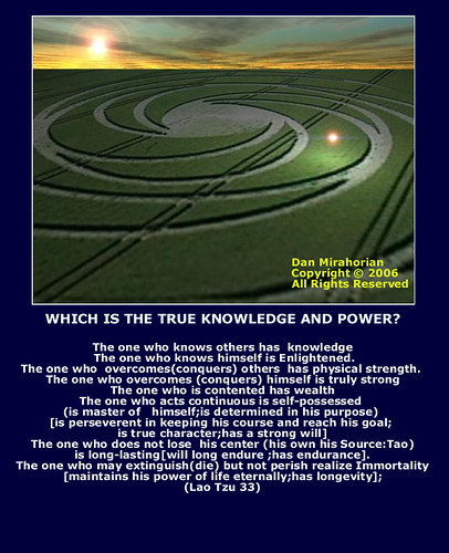 WHICH IS THE TRUE KNOWLEDGE AND POWER?