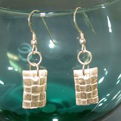Woven fine Silver Earrings