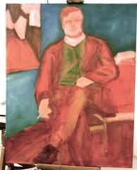 WIP 3 - Modigliani in his Studio