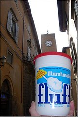 Fluff and clock tower, Orvieto