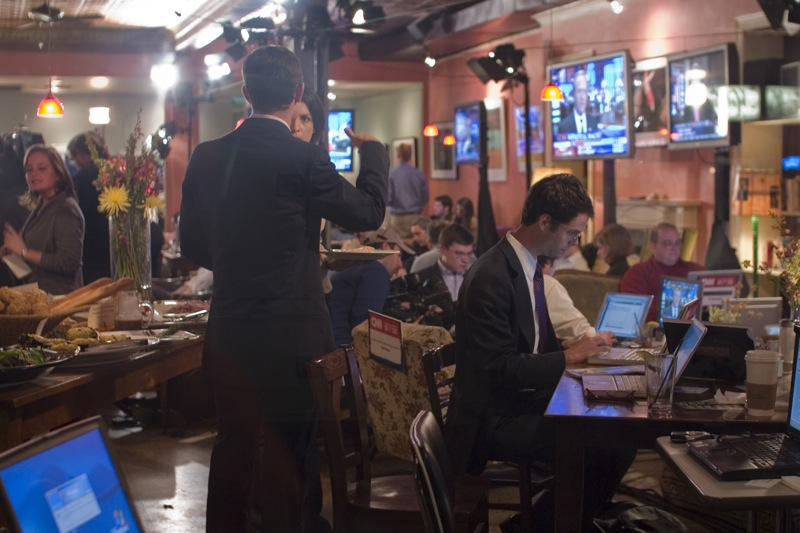 Tryst, election night