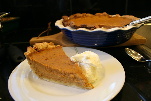 pumpkin pie with whipped cream!