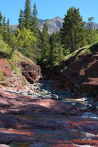 Waterton Lake - Red Rock Canyon
