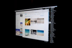 flickr on a mac in the dark