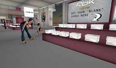 Reebok store in Second Life