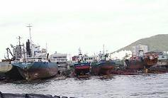 Docks, as indicated by boats.