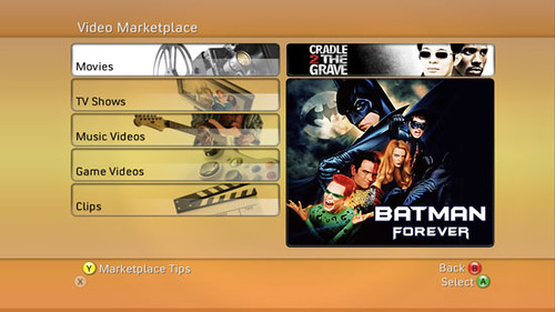 Xbox 360 Video Marketplace