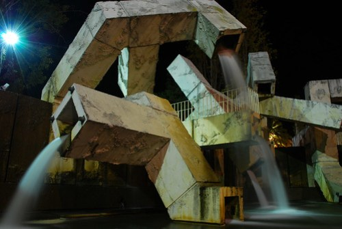 Fountain in Justin Herman Plaza