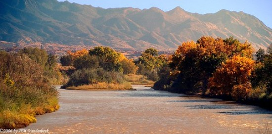 Autumn Sunset on the Rio Grande