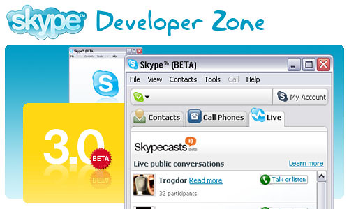 skype 3 beta for windows