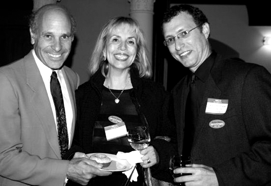 Greg Palast, Cindy Asner and Brad Friedman by Margery Epstein