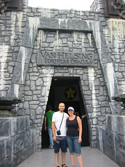 Rob and I outside Van Helsing