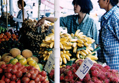 Bangkok fruit stall 1997