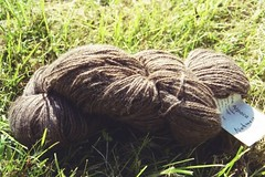 brown alpaca skein
