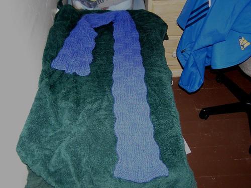 Wyl's scarf, drying