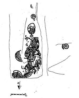 Petroglifo da Cabeciña no Coto de Barcelos (Mougás) TA