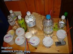 我們喝剩的一堆飲料杯�