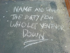 Message on the pavement