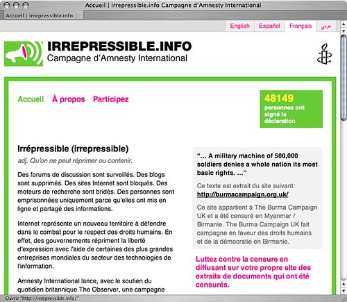 irrespressible.info - Amnesty International
