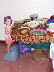 Annalise at the pie table