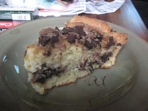 chocolate chip and yogurt cake